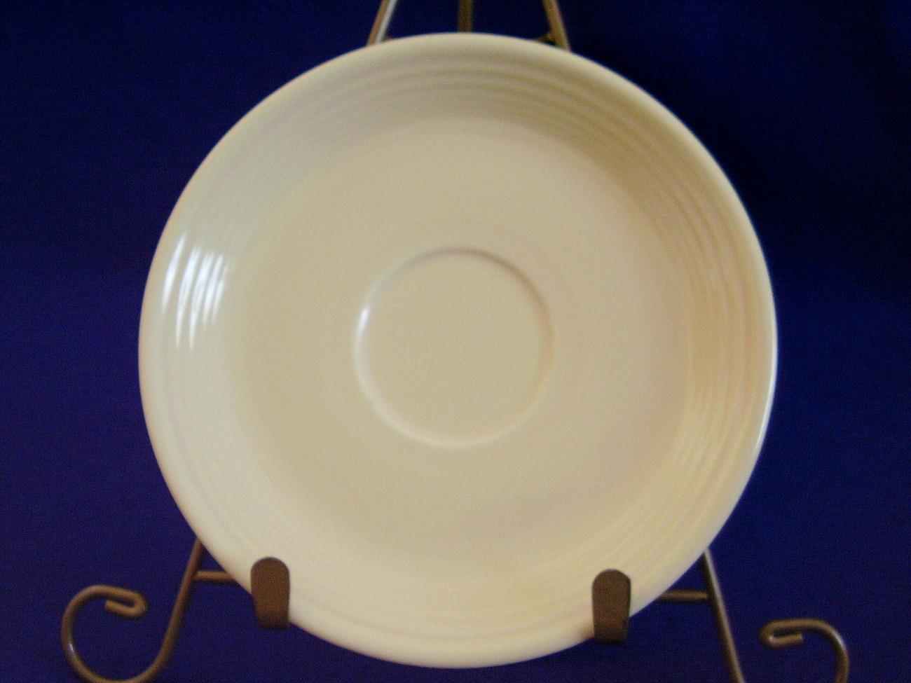 Vintage Fiestaware Ivory Teacup Saucer Fiesta  C