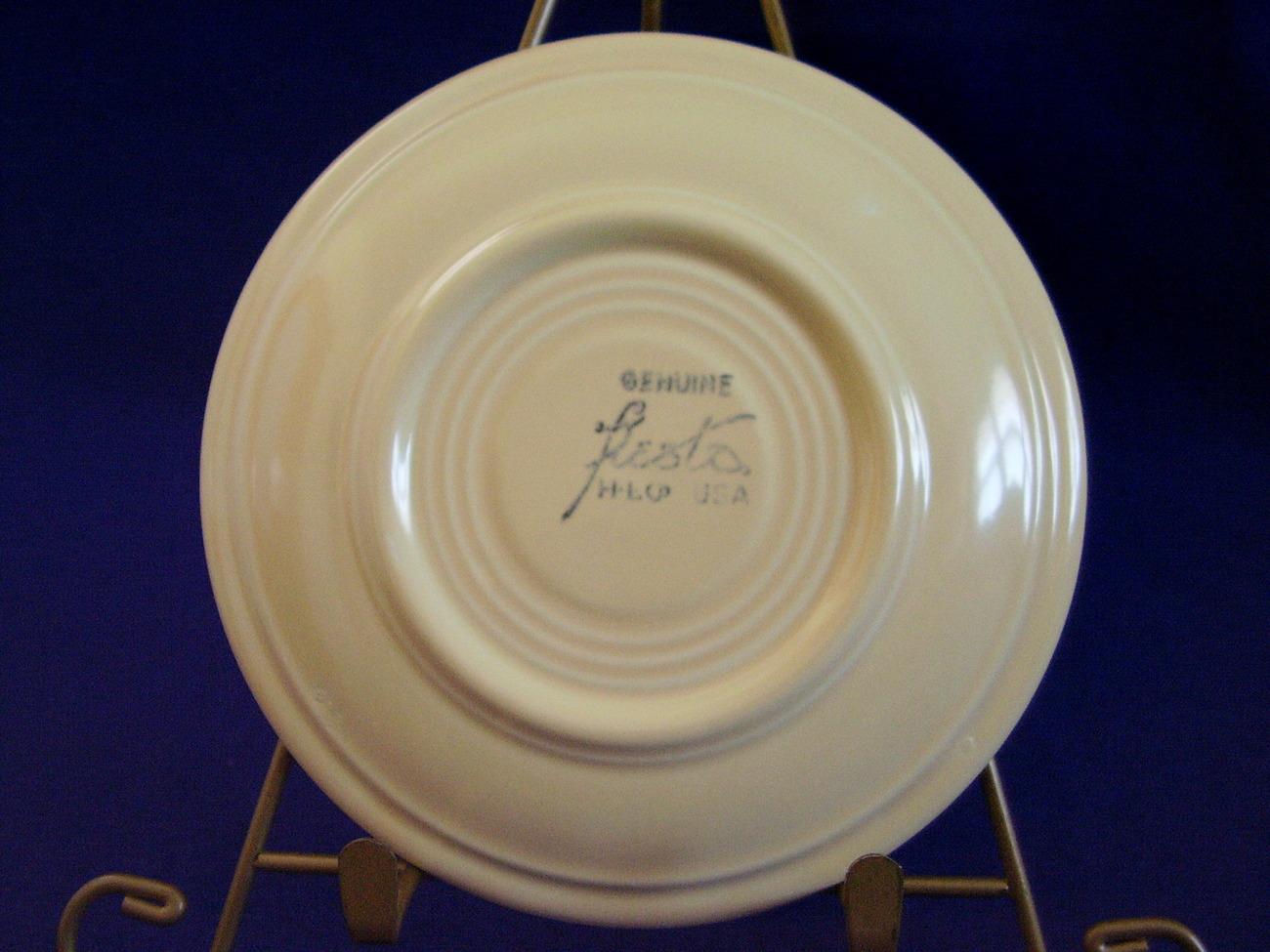 Vintage Fiestaware Ivory Teacup Saucer Fiesta  B