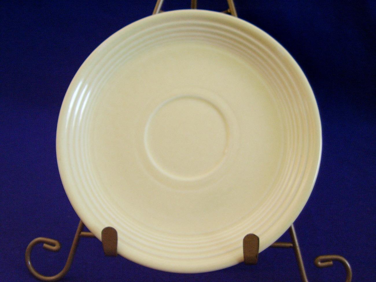 Vintage Fiestaware Ivory Teacup Saucer Fiesta  A
