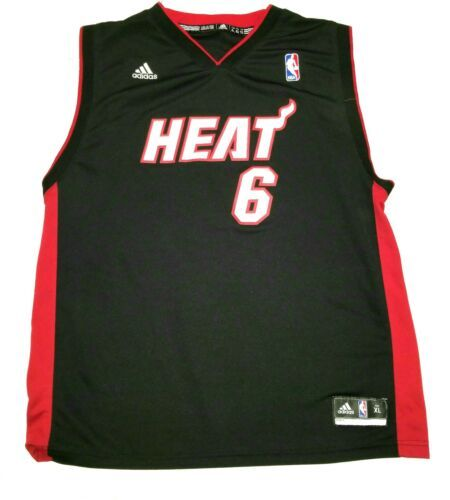 8ecb2091056 Boys Adidas Miami Heat Number 6 LeBron James and 50 similar items. 12