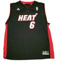 Boys Adidas Miami Heat Number 6 LeBron James Basketball Jersey Size XL 1... - $14.89