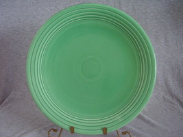 Vintage Fiestaware Original Green 13 Inch Chop Plate  - $36.00