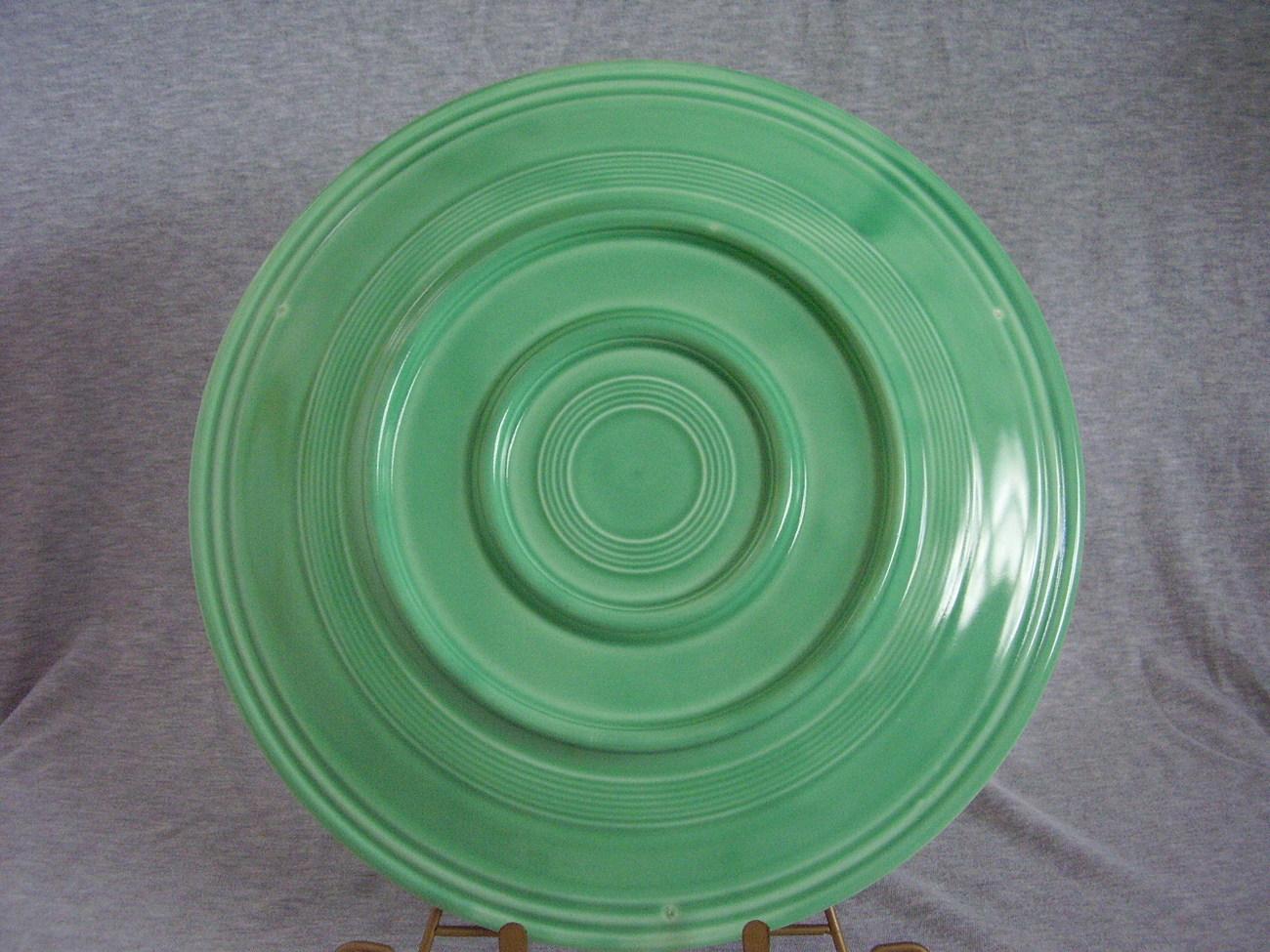 Vintage Fiestaware Original Green 13 Inch Chop Plate
