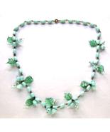Vintage Murano Venetian Glass Blue Birds Flower... - $53.00