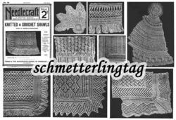 C1903 Edwardian Gibson Girl Era Shawl Pattern Book Knit Crochet Victorian Shawls