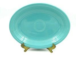 Vintage Fiesta Fiestaware Blue Turquoise Oval Serving Platter - $19.80