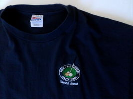 1998 Big Stitch Golf Tournament Men's T-Shirt XXL Blue Hanes Beefy-T image 3