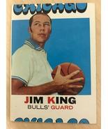 1971-72 Topps Basketball  Jim King  Bulls - Miscut Error Card - $5.89