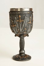 Knights Swords of the Realm GoT Goblet, Gothic Fantasy Chalice Sculpture... - $18.70