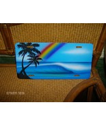 VINTAGE SOLID METAL  PARADISE AWESOME BEACH SCENE HIGH END VANITY AUTO P... - $2.50