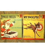 2 VINTAGE 50s  RUDOLPH and SANTA  Golden 78rpm ... - $14.00
