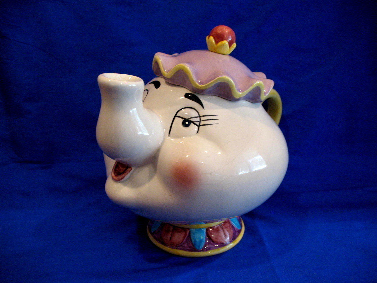Disney ceramic elephant mrs potts piggy coin bank banks - Ceramic elephant piggy bank ...