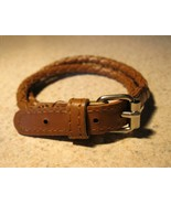BRACELET BROWN LEATHER BUCKLE STYLE UNISEX #820 - $10.99