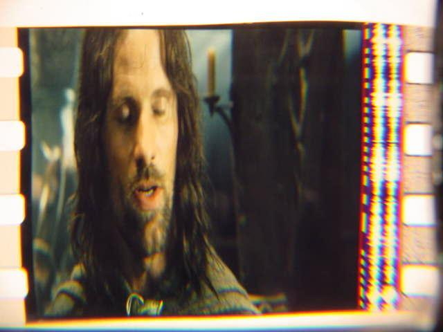 Lord of the Rings rare 35mm film cell transparency Viggo