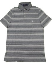 New Polo Ralph Lauren Men's Pony Logo Striped Gray Polo Shirt Large 3649-3 - $29.39
