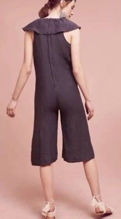 NWT Anthropologie Gray Cascada Jumpsuit by Maria Stanley