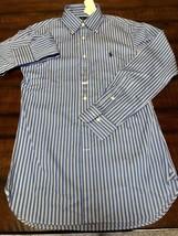 NWT $325 RALPH LAUREN BLUE PINSTRIPE SLIM FIT DRESS SHIRT OXFORD S 14.5 ... - $65.00