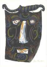 "BEN SHAHN Mask (The Mask of the Women with the Comb) 29.75"" x 21"" Serigraph - $1,188.00"
