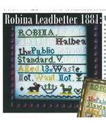 Minerva & Friends: Robina Leadbetter 1881 sampler cross stitch Needlewor... - $5.40