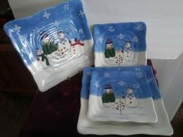 Set Of 4 St. Nicholas Button Up Square Plates - $74.71