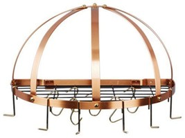"Old Dutch Half-Round Pot Rack with Grid & 12 Hooks Copper 22"" x 11"" x 12"" - $72.32"