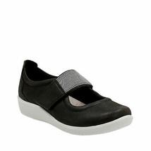 Clarks Womens Sillian Cala Slip-On Shoe Closed Toe 8M Black NEW - $91.06