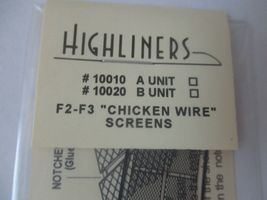 Highliners Stock #2003 F2/F3 B Unit with Screens and all Parts HO Scale image 6