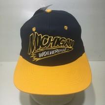 Vintage 90s NCAA Michigan Wolverines Head Start Snapback Cap Hat OSFA NWT - $99.00