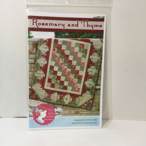"Primary image for Rosemary and Thyme Quilt Pattern 60.5"" x 72.5"" It's Sew Emma"