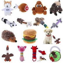 Cute Animal Pets Dog Squeaky Squeaker Sound Plush Stuffed Play Toys Pig Elephant - $6.84