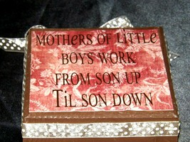 Handmade Plaque with Stand AA19-1689 Vintage image 2