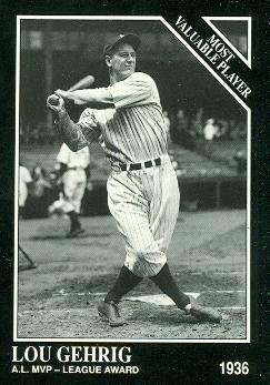 Primary image for Lou Gehrig Baseball Card (New York Yankees) 1991 Sporting News Conlon Collect...