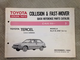 1982 and up Toyota TERCEL Quick Reference Parts Catalog Manual OEM AL21Z AL25Z - $44.50