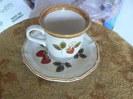Mikasa Strawberry Festival cup and saucer 1 available - $5.49