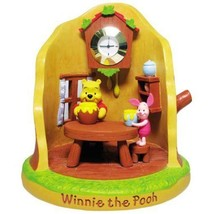 Disney Winnie the Pooh Figures Clock Resin desk Ornament Japan FS - $64.35