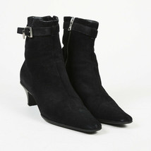 Prada Suede Square Toe Ankle Boots SZ 37.5 - $160.00