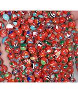 """Loose Beads 6MM Turquoise Gemstone RED Mosaic Round 6MM 15.5"""" - $9.88"""