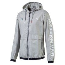 Puma Bmw Motorsport Men's Classic Zip Up Sports Track Jacket Light Gray 57278003 - $114.95