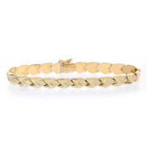 6.8mm 14K Yellow Gold Fancy Z Link Bracelet - $484.11