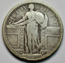 1917 Type I Standing Liberty Silver Quarter Coin Lot# A663 image 1