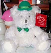 Russ Shawn Irish Sitting Bear with Tag - $9.49