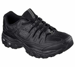 Skechers Wide Width Black shoe Men Memory Foam Sport Train Comfort Sneak... - $49.79