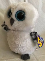 "2013 TY BEANIE BOOS~SPELLS THE OWL White PLUSH 6"" Purple Tag MWMTs New R... - $19.79"