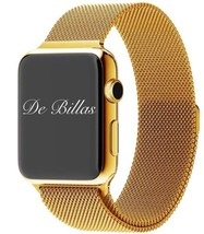 24K Gold 42MM Apple Watch Stainless Steel Gold Plated Gold Milanese Loop... - $699.00