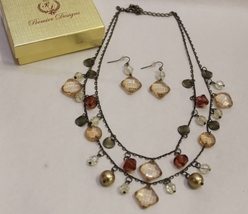 Premier Designs Tuscany Earth Two Layer Necklace Earrings - $38.95
