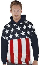 JUMBO AMERICAN FLAG USA FREEDOM PATRIOTISM PRIDE ARMY SWEATER SWEATSHIRT... - $36.40