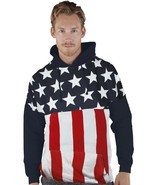 JUMBO AMERICAN FLAG USA FREEDOM PATRIOTISM PRIDE ARMY SWEATER SWEATSHIRT... - $36.40