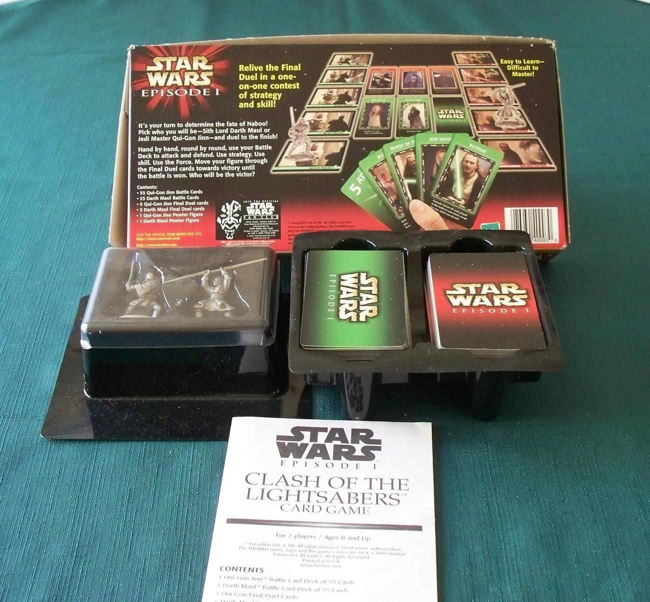 Star Wars Episode I Lightsabers Card Game Complete VGC