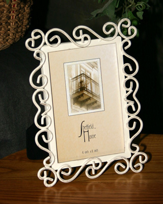 Shabby Chic Metal Picture Frame