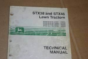 Primary image for JD John Deere STX38,STX46 Lawn Tractor Technical Manual